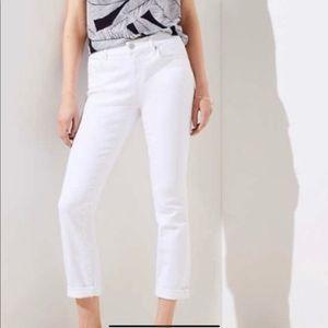 LOFT White Modern Skinny Crop Ankle Pants Jeans